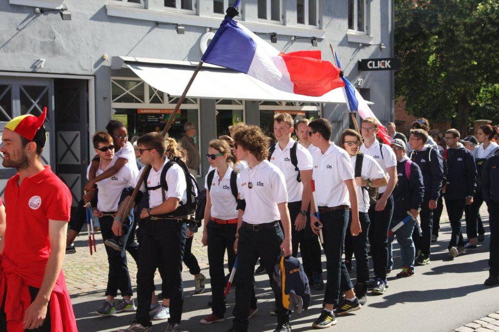Equipe française lors de l'ouverture de l'AC